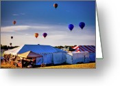 Balloon Fest Greeting Cards - Up Greeting Card by David Hahn