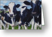 Photo-realism Painting Greeting Cards - Up Front Greeting Card by Denny Bond