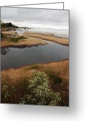 Fall River Scenes Greeting Cards - UP Lake Michigan Shore Greeting Card by LeeAnn McLaneGoetz McLaneGoetzStudioLLCcom