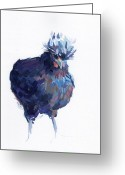 Hen Greeting Cards - Updo II Greeting Card by Kimberly Santini