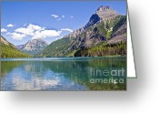Glacier Greeting Cards - Upper Kintla Lake Colours Greeting Card by Scott Hansen
