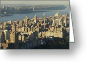 Birdseye Greeting Cards - Upper Westside Greeting Card by Christian Heeb