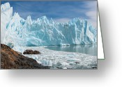 Glacier Greeting Cards - Upsala Glacier Greeting Card by Michael Leggero