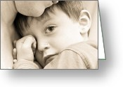 Consoling Greeting Cards - Upset child Greeting Card by Tom Gowanlock
