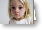 Tearful Greeting Cards - Upset Young Girl Greeting Card by Ian Boddy
