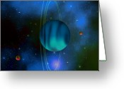 Portal Greeting Cards - Uranus Greeting Card by Corey Ford