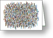 Wall Art Drawings Greeting Cards - Urban Abstract Greeting Card by Frank Tschakert