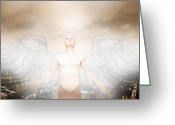Got Greeting Cards - Urban Angel Greeting Card by Carrie Jackson