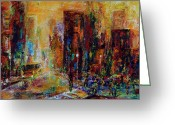 Cityscape Jewelry Greeting Cards - Urban Apparitions Greeting Card by Laura Swink