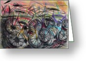 Friendly Pastels Greeting Cards - Urban Assault Greeting Card by Robert M Sassi