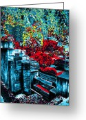 Respite Greeting Cards - Urban Autumn Greeting Card by Tim Allen