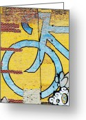 Urbano Greeting Cards - Urban Bike Art Print Greeting Card by AdSpice Studios
