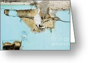 Arquitectura Greeting Cards - Urban Blue Fragments Greeting Card by AdSpice Studios