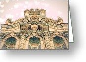 Byzantine Greeting Cards - Urban Castle Greeting Card by Danielle Denham