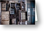Nh Greeting Cards - Urban Decay  Fuse Box Greeting Card by Edward Myers