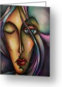 Cubist Greeting Cards - Urban Design Greeting Card by Michael Lang