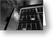 Dismal Greeting Cards - Urban Desolation Greeting Card by Barbara  White