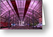 Train Track Greeting Cards - Urban Express Greeting Card by Evelina Kremsdorf