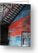 Nyc Graffiti Greeting Cards - Urban Landscape Greeting Card by Anahi DeCanio