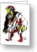Aboriginal Art Drawings Greeting Cards - Urban Myth 738 Greeting Card by Dan Daulby