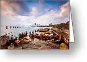 Lake Michigan Greeting Cards - Urban Renewal Greeting Card by Daniel Chen