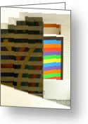 Granite Walls Greeting Cards - Urban Sculpture 1 Greeting Card by Dora Miller