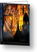 Window Greeting Cards - Urban Sunset Greeting Card by Bob Orsillo