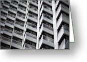 Conformity Greeting Cards - Urban Textures Greeting Card by Hal Bergman Photography