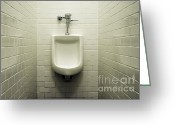 Urinal Greeting Cards - Urinal Greeting Card by John Greim