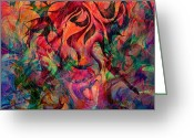 Mystery Digital Art Greeting Cards - Urn of the Fire Greeting Card by Rachel Christine Nowicki