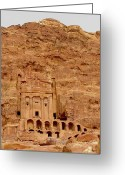 Ruin Greeting Cards - Urn Tomb, Petra Greeting Card by Cute Kitten Images