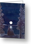 Polaris Greeting Cards - Ursa Minor Greeting Card by Catherine G McElroy
