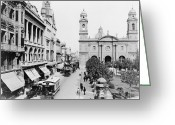 Birds Eye View Greeting Cards - Uruguay: Montevideo Greeting Card by Granger