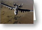 Gunship Greeting Cards - U.s. Air Force A-10 Thunderbolt Greeting Card by Stocktrek Images