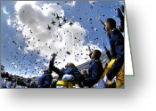 Cheering Greeting Cards - U.s. Air Force Academy Graduates Throw Greeting Card by Stocktrek Images