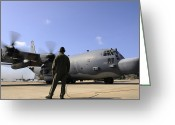Hurlburt Field Greeting Cards - U.s. Air Force Airman Observes An Greeting Card by Stocktrek Images
