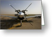 Texan Greeting Cards - U.s. Air Force Pilots Run Pre-flight Greeting Card by Terry Moore