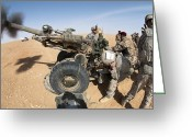 Iraqi Military Greeting Cards - U.s. And Iraqi Artillerymen Train Greeting Card by Stocktrek Images