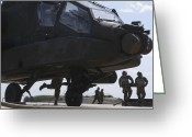 Armament Greeting Cards - U.s. Army Armament Team Loads Greeting Card by Stocktrek Images