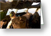 Control Greeting Cards - Us Army Pilots In-flight In The Cockpit Greeting Card by Terry Moore