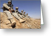 Taking A Break Greeting Cards - U.s. Army Soldiers And Iraqi Army Greeting Card by Stocktrek Images