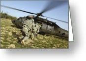 Battleground Greeting Cards - U.s. Army Soldiers Prepare To Board Greeting Card by Stocktrek Images