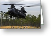 Grasslands Greeting Cards - U.s. Army Special Forces Fast Rope Greeting Card by Stocktrek Images