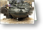 Iraq Greeting Cards - U.s. Army Stryker Combat Vehicles Greeting Card by Stocktrek Images