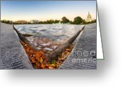 Us Capital Greeting Cards - US Capital Reflecting Pond Greeting Card by Dustin K Ryan