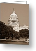 Representatives Greeting Cards - US Capitol 1 Greeting Card by Douglas Barnett