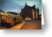 Nightshot Greeting Cards - US Car II Greeting Card by Nina Papiorek