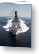 Coast Guard Greeting Cards - U.s. Coast Guard Cutter Waesche Greeting Card by Stocktrek Images