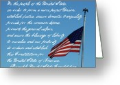 We The People Greeting Cards - US Flag Preamble Greeting Card by Robyn Stacey