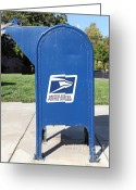 Mail Box Photo Greeting Cards - US Mail Box . 5D18813 Greeting Card by Wingsdomain Art and Photography